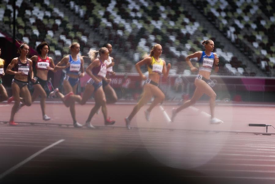 Corsa 1.500-metri femminile (AP Photo/Francisco Seco)