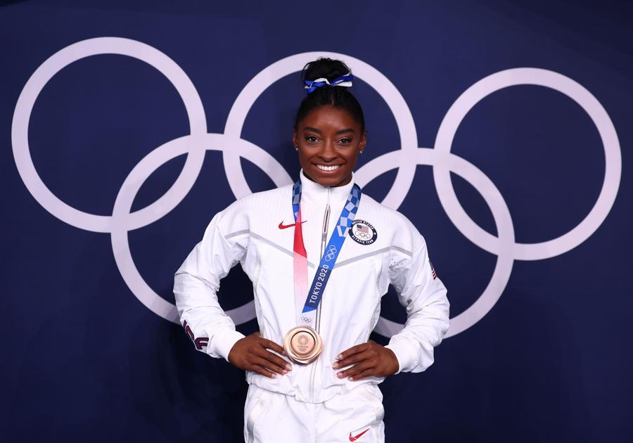 Ginnastica artistica femminile -medaglia di bronzo Simone Biles (REUTERS/Mike Blake)