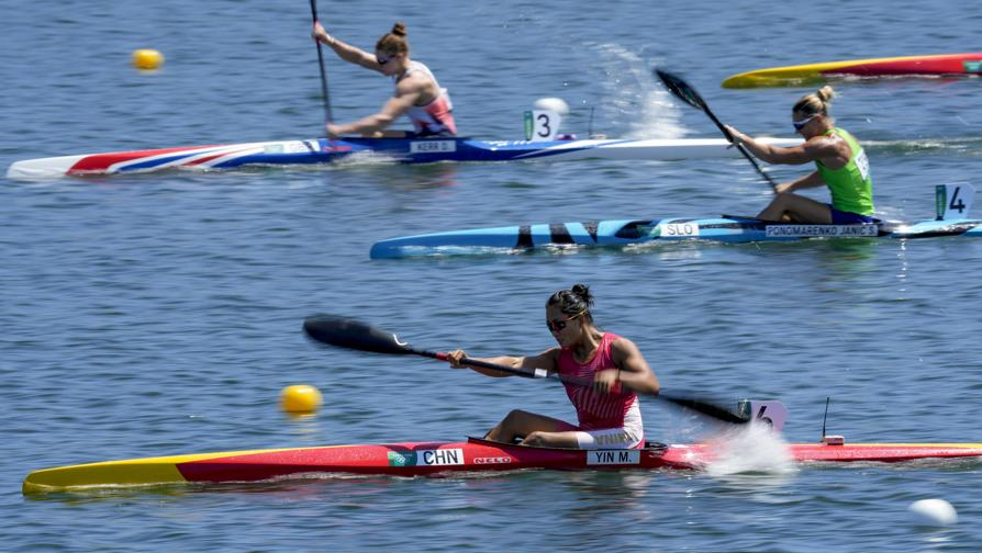 Kayak singolo femminile 500m. (AP Photo/Darron Cummings)