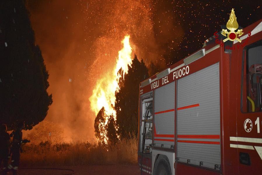 Petralia Soprana, nelle Madonie, vicino a  Palermo. (Vigili del fuoco via