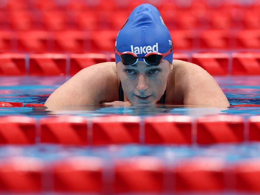 Nuoto - Donne 100 metri stile liberp - S3/2 –  Arjola Trimi vince l'oro (REUTERS/Bernadett Szabo)