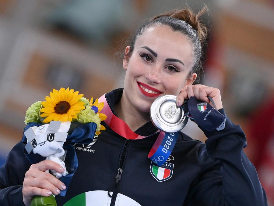 Vanessa Ferrari medaglia d'argento (Foto Alfredo Falcone - LaPresse)