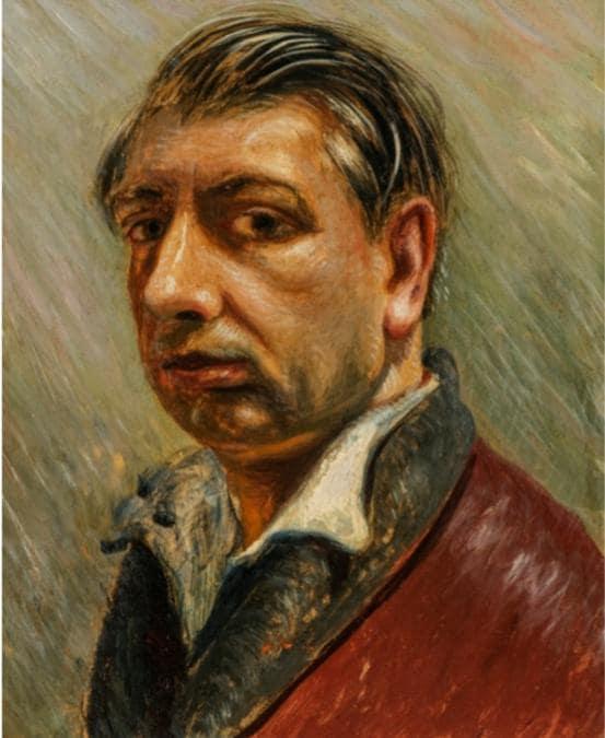 Giorgio de Chirico, Autoritratto, 1931, olio su cartone, 41x33 cm in vendita da Bottegantica a 180.000 euro