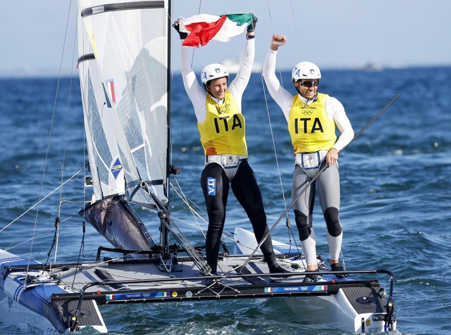 Ruggero Tita e Caterina Banti   (EPA/CJ GUNTHER)