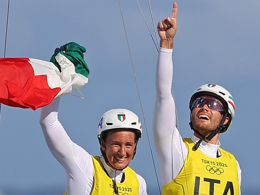 Ruggero Tita e Caterina Banti   (REUTERS/Carlos Barria)