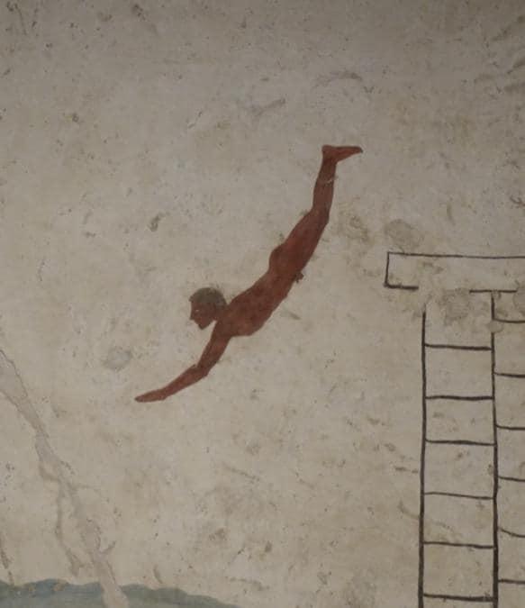 La tomba del tuffatore (dettaglio), museo di Paestum