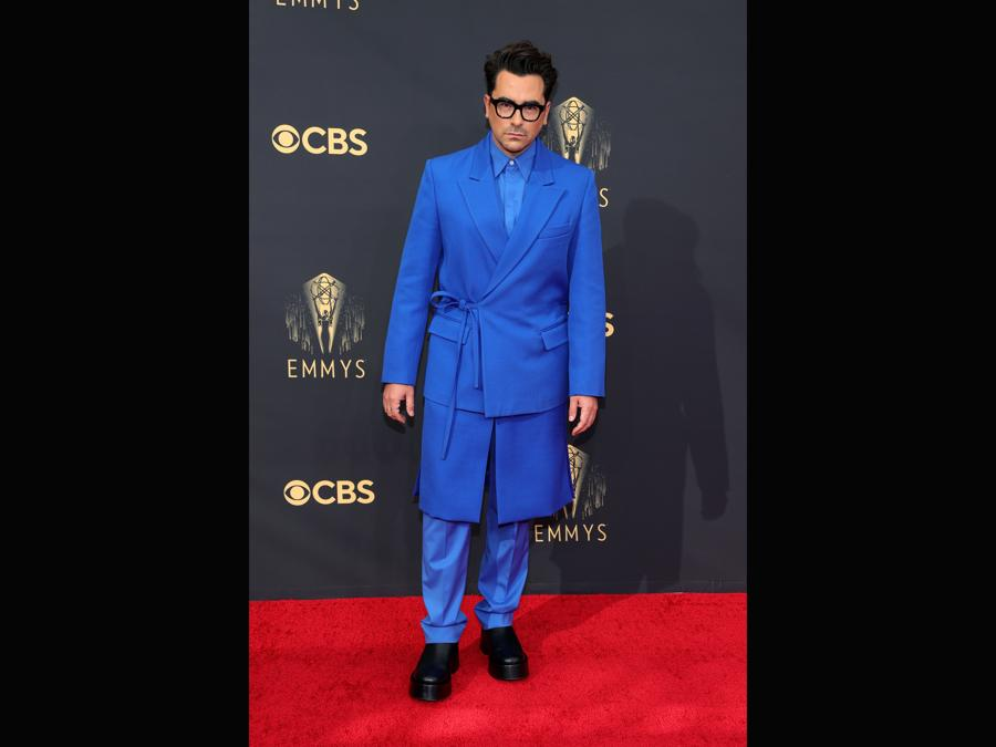 Dan Levy   in Valentino Haute Couture (Rich Fury/Getty Images)