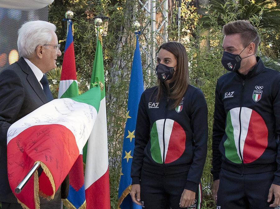 Sergio Mattarella, Jessica Rossi e Elia Viviani