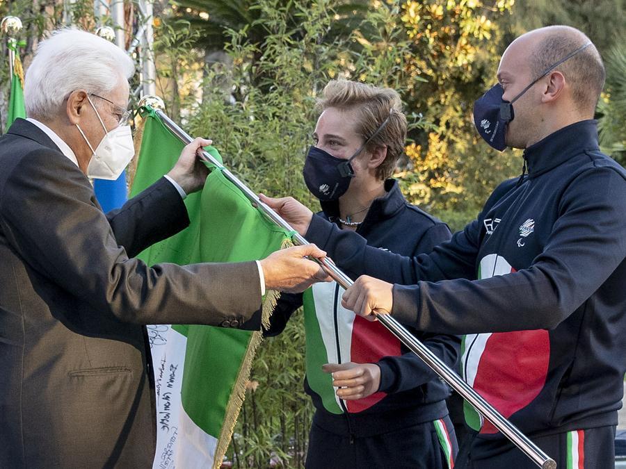 Sergio Mattarella, Bebe Vio  e Federico Morlacchi