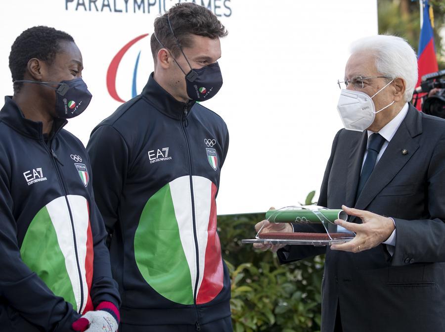 Sergio Mattarella, Fausto Desealu e Filippo Tortu