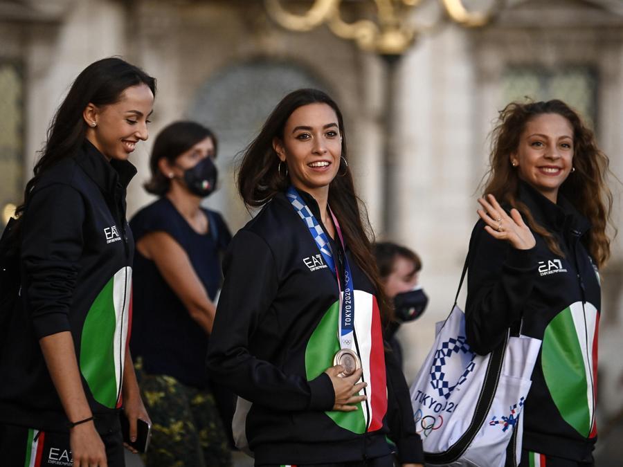 Daniela Mogurean, Alessia Maurelli e Martina Santandrea (ANSA/RICCARDO ANTIMIANI)