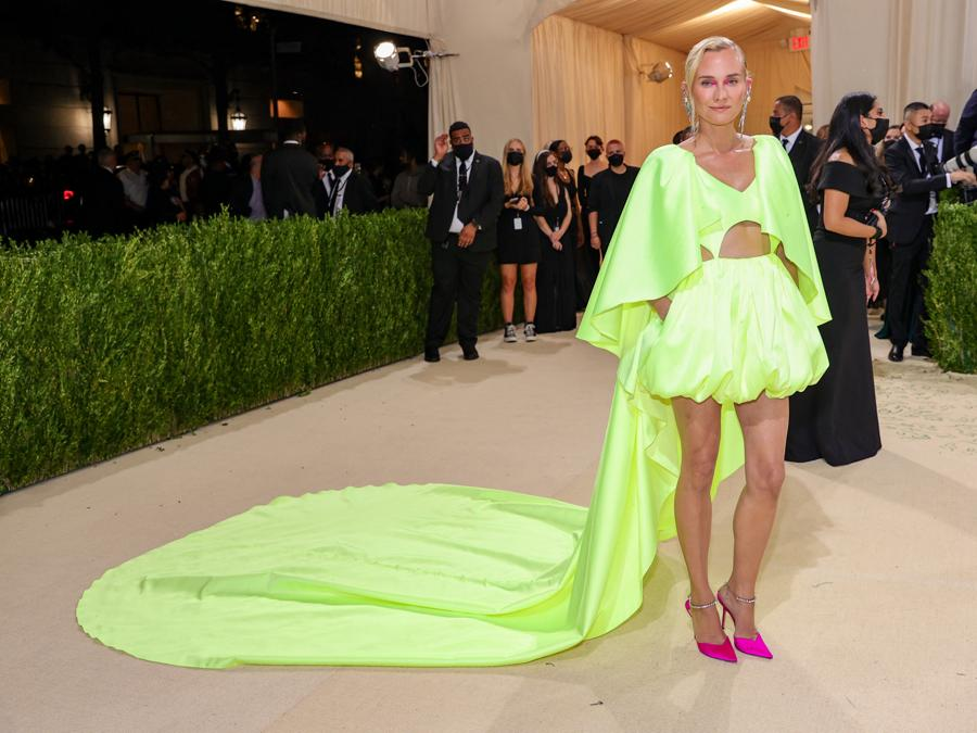 Diane Kruger    in Prabal Gurung (Photo by Theo Wargo / Getty images North America   / Getty Images via AFP)