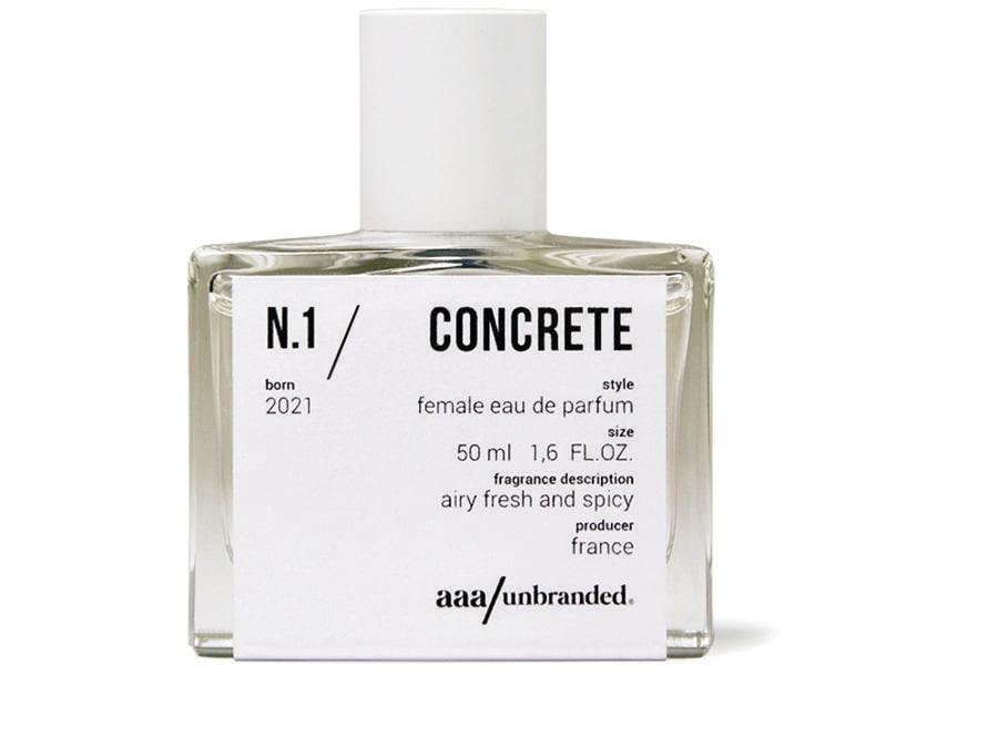 aaa/unbranded.N.1/Concrete è il primo di 9 profumi ispirati alle muse greche