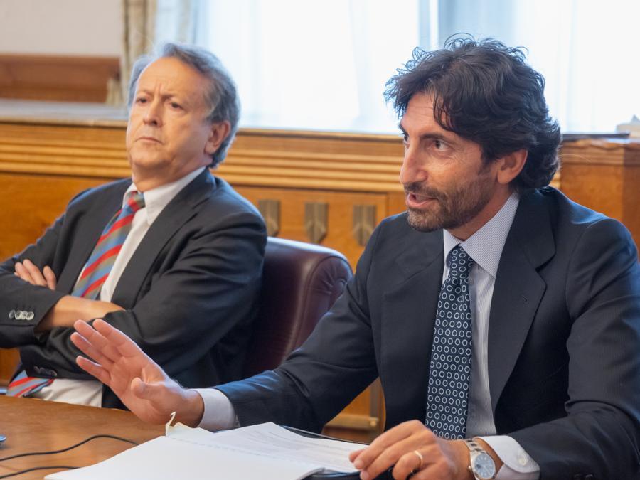 Fabio Tamburini Direttore del Sole 24 Ore e Federico Silvestri, DG di System 24 (Foto: Daniele Paternoster - Archivio Ufficio stampa Provincia Autonomadi Trento)
