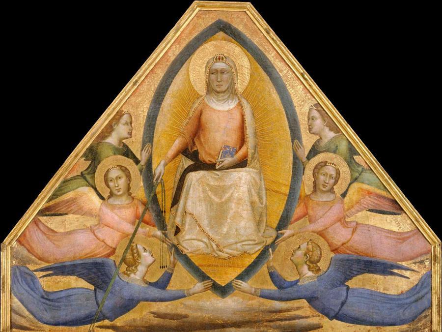 Bernardo Daddi, L'Assunzione della Vergine, 1337-39, New York, Metropolitan Museum of Art