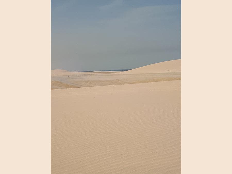 Dune di sabbia nel sud est del deserto qatarino