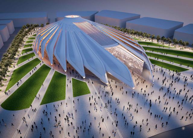 Padiglione EAU di Calatrava per Expo 2020
