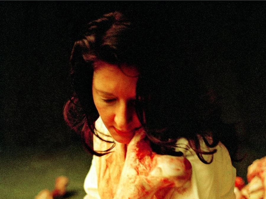 "Marina Abramović, Balkan Baroque (Bones), 1997, video a un canale (b/n, sonoro), 9'42"". New York, Abramović LLC. Courtesy of Marina Abramović Archives e LIMA © Marina Abramović. Marina Abramović by SIAE 2018."
