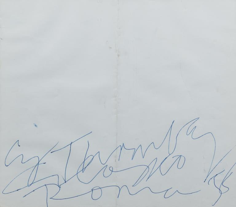 Finarte «Colosseo Roma 58», un inchiostro su cartoncino di Cy Twombly, stima di 10-15mila euro, aggiudicato per 26.250 euro