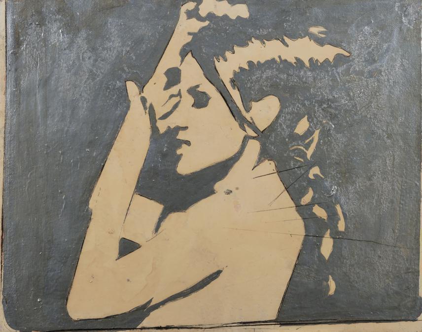 Finarte Giosetta Fioroni «Senza titolo, per Paola» del 1965, tecnica mista su tela, venduta a 35mila euro