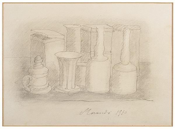 Il Ponte una piccola matita su carta «Natura morta» di Giorgio Morandi, 23x30 cm, venduto per 102.500 euro