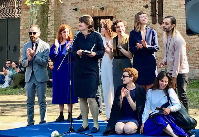Un momento della conferenza di inaugurazione del Padiglione Lituania, Venezia,10 maggio 2019 (© Francesca Guerisoli).