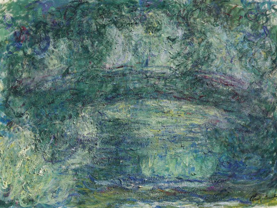 Claude Monet (1840-1926), Le pont japonais, oil on canvas, painted circa 1918-1924