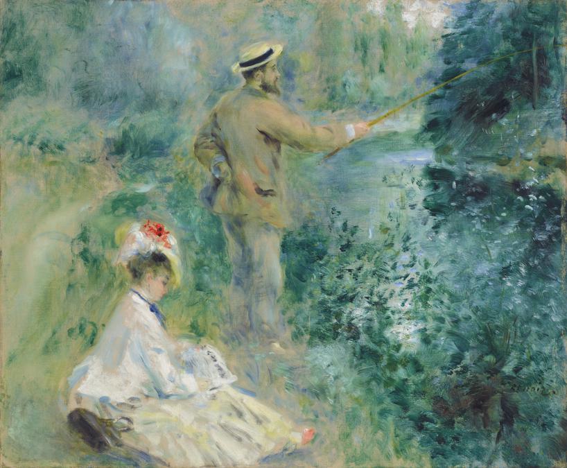 Pierre-Auguste Renoir (1841-1919), Le pêcheur à la ligne, oil on canvas, painted in 1874