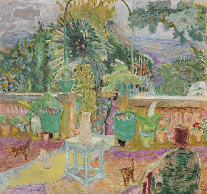 Pierre Bonnard (1867-1947), La Terrasse ou Une terrasse à Grasse, oil on canvas, Painted in 1912 WORLD AUCTION RECORD