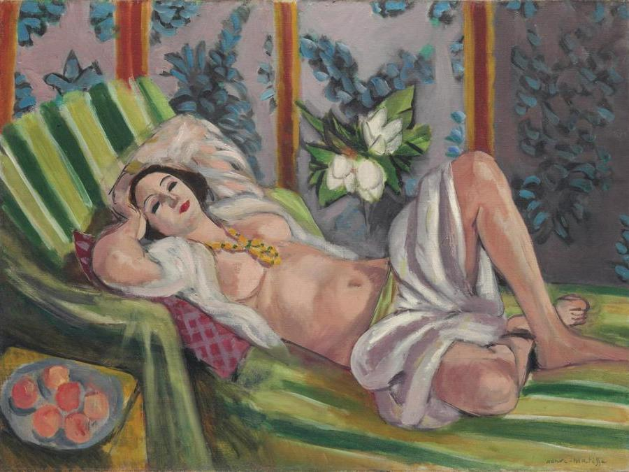 8 May 2018. The Collection of Peggy and David Rockefeller: 19th and 20th Century Art Evening Sale . New York. Henri Matisse. Odalisque couchée aux magnolias, oil on canvas, painted in 1923. Price realised: $80,750,000 / £59,506,264. WORLD AUCTION RECORD FOR THE ARTIST