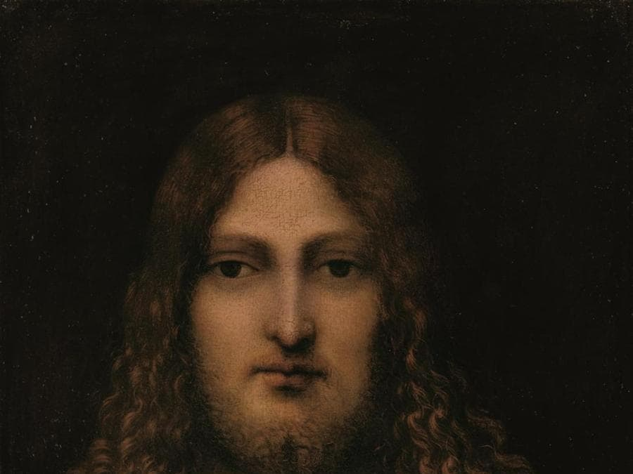 Circle of Leonardo da Vinci, Bust of Christ, oil on panel, (est. £250,000-350,000)