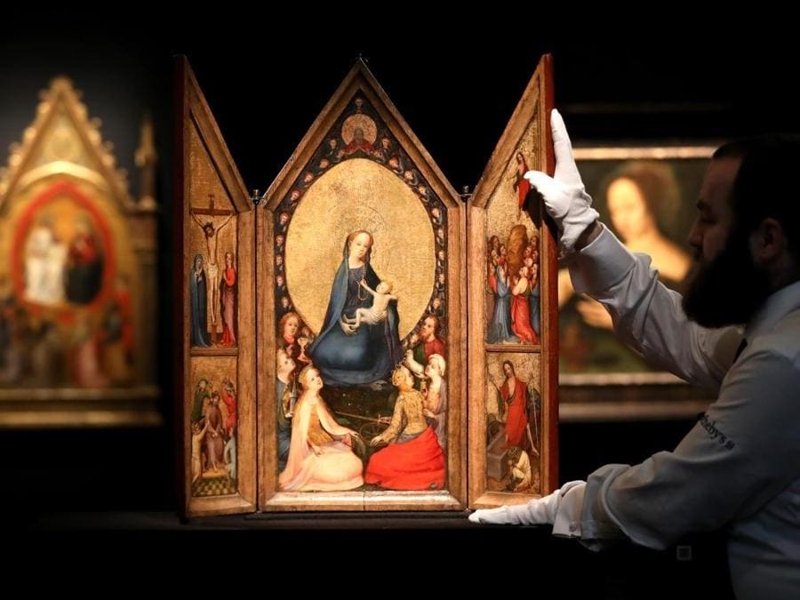The Master of Saint Veronica triptych (doors closed), oil on oak panel, (est. £1,200,000-1,800,000)
