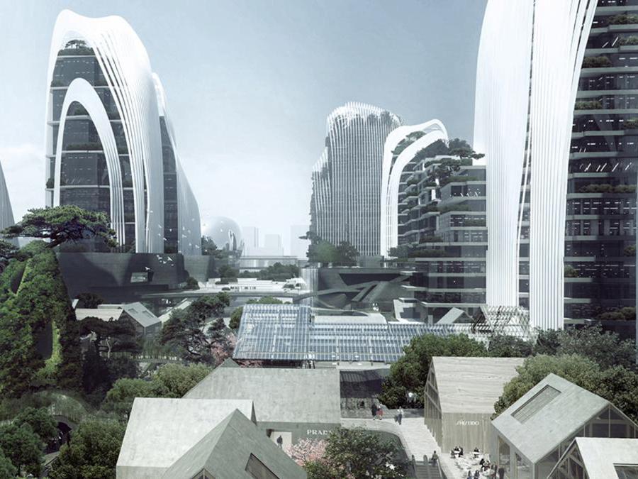 Zendai Himalayas Centre a Nanchino, Mad Architects