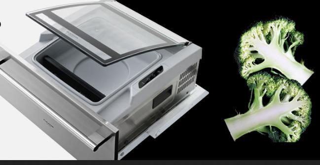 Fulgor, FVCD270, cassetto da incasso per creare il sottovuoto, in acciaio inox, con una capacità di 8 litri, coperchio in vetro e diversi cicli per preparare le buste sigillate secondo la destinazione se per la conservazione o per la cottura