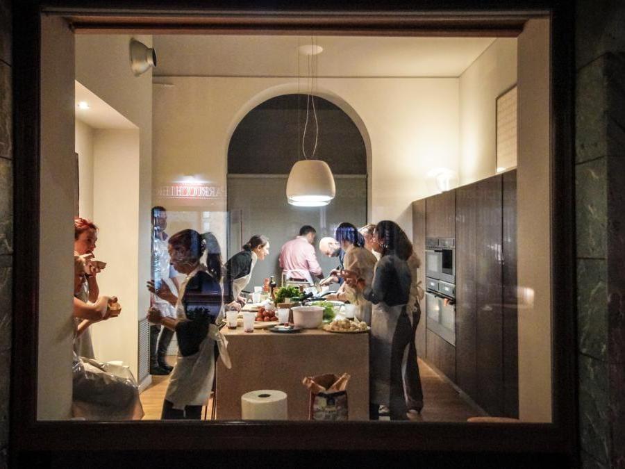Casa Urban. Uno dei tre spazi polifunzionali del format Presso. SI possono affittare singolarmente per una cena o, per chi ha esigenze di maggiore spazio, possono essere unite per accogliere fino a 200 persone