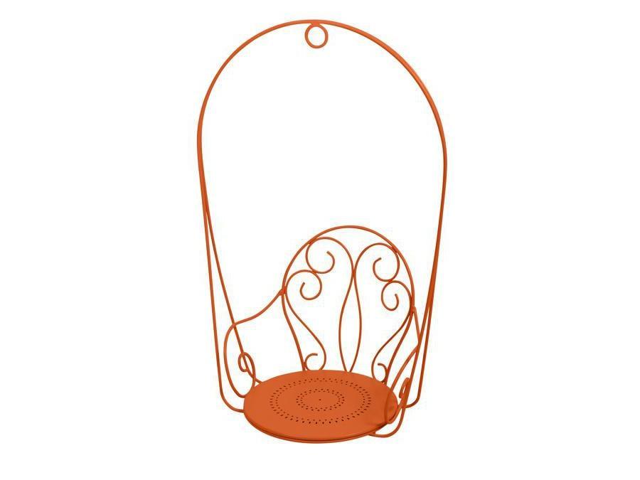 Fermob, sedia sospesa Montmartre. Poltroncina in acciaio forgiato a mano con design d'ispirazione belle époque. Disponibile in 26 diversi colori