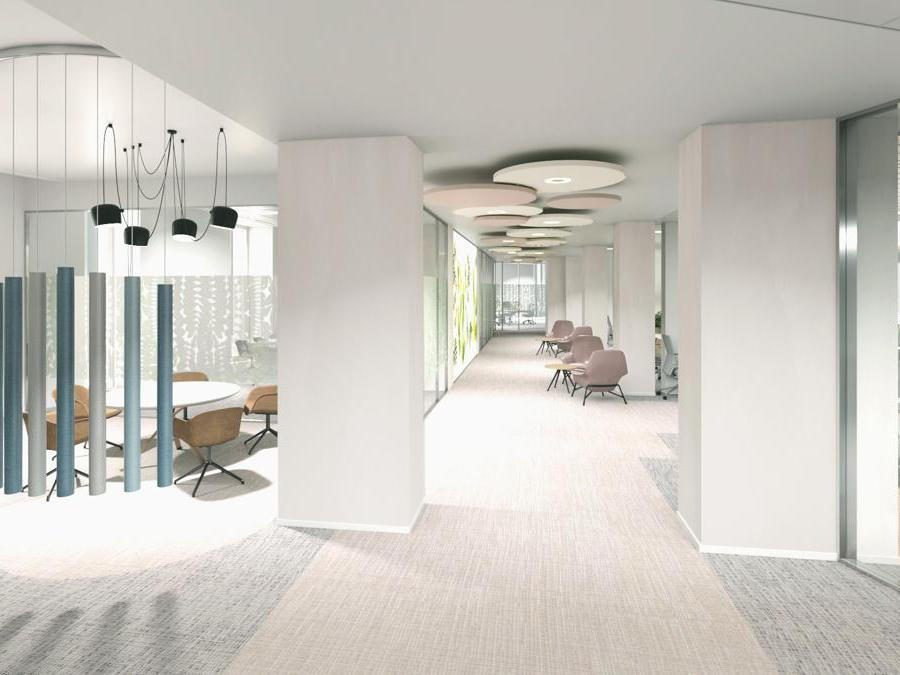 Rendering dei futuri uffici