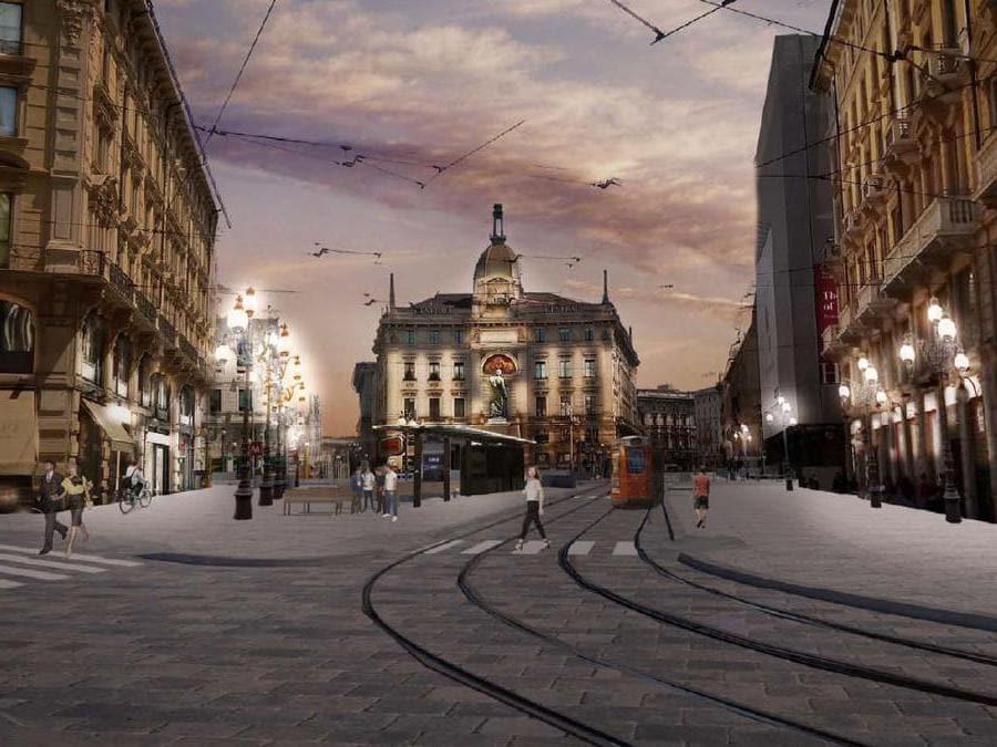 Piazza Cordusio - Rendering