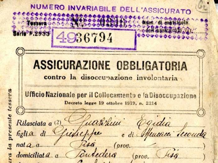 I documenti dell'archivio storico Inps