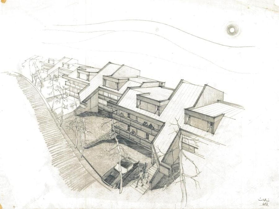 Khalil Khouri_Architecture_Chalets in the Cedars_Perspective