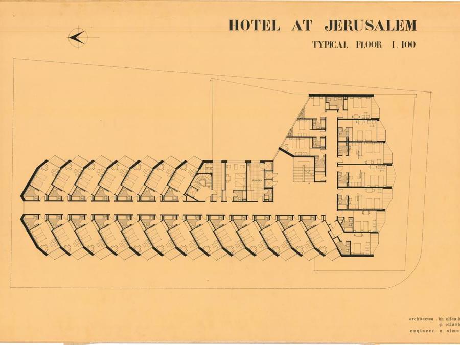 Khalil Khouri_Architecture_Hotel in Jerusalem_Typical floor plan