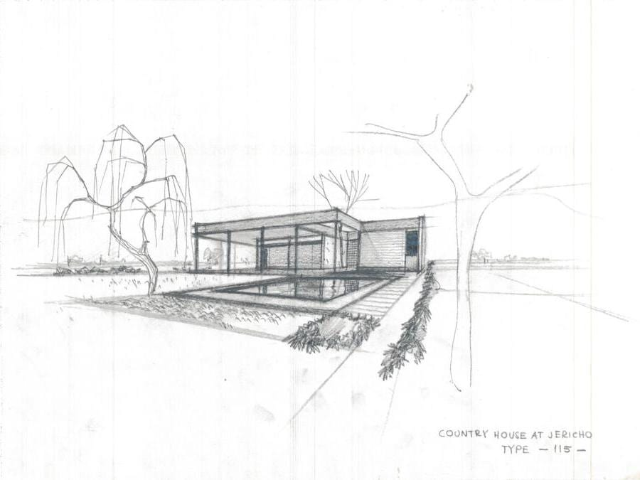Khalil Khouri_Architecture_Jericho country house_Perspective