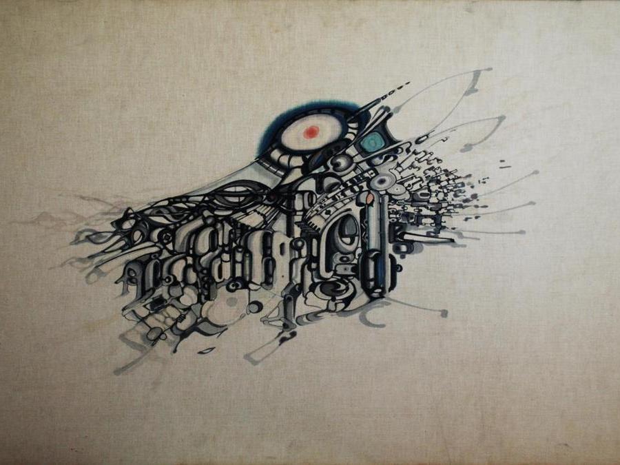 Khalil Khouri_Drawings_Abstract 3_Felt pen on canvas
