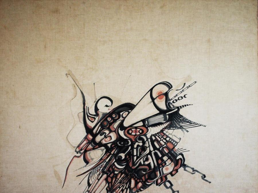 Khalil Khouri_Drawings_Abstract 4_Felt pen on canvas