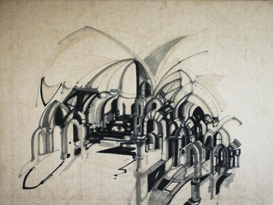 Khalil Khouri_Drawings_Abstract 6_Felt pen on canvas