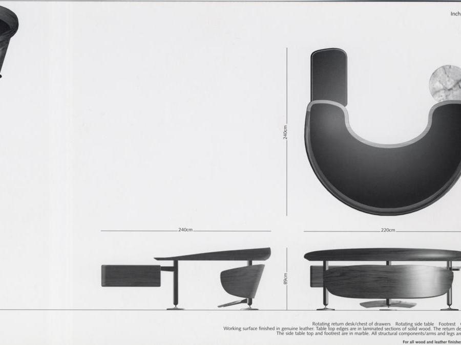 Khalil Khouri_Furniture_Incha desk_Drawing