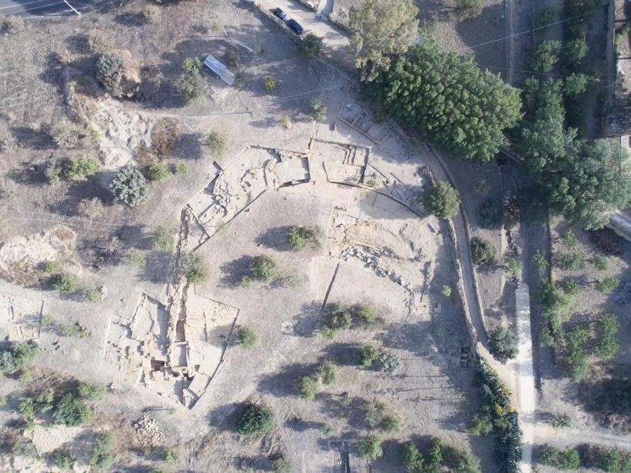 Agrigento, teatro ellenistico, foto aerea