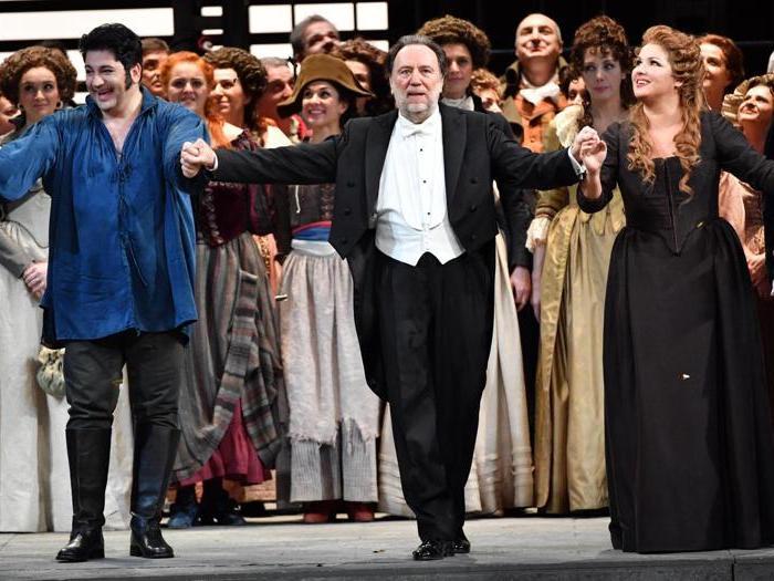 Andrea Chénier, le  immagini della Prima alla Scala