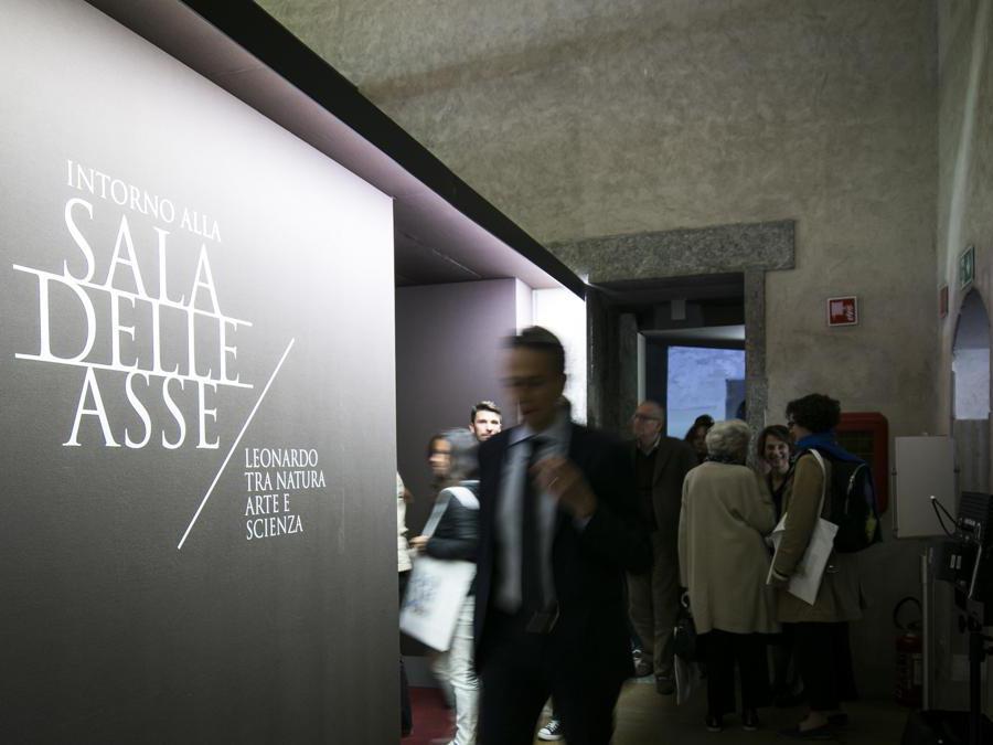 Castello Sforzesco, Milano. Inaugurazione degli eventi di Leonardo 500 con presentazione della straordinaria apertura della Sala delle Asse e delle mostre e iniziative collegate. (Stefano De Grandis/Fotogramma)