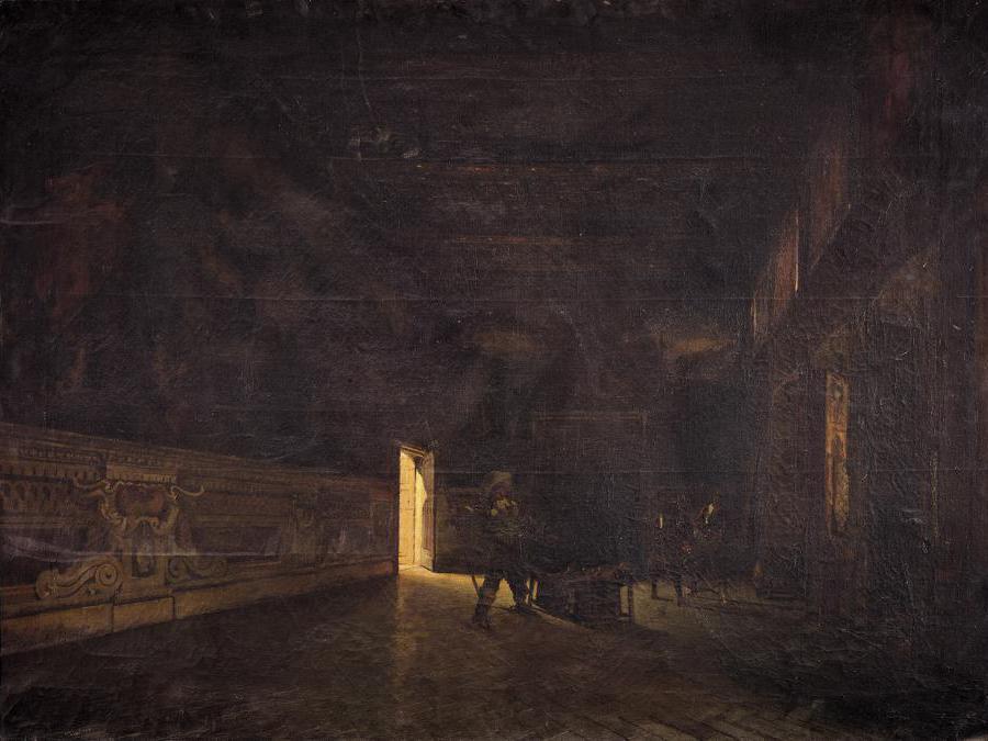 Francesco Colombi Borde (1846-1905) Sala del Palazzo Verri a Milano, 1880, olio su tela. Milano, Galleria d'Arte Moderna (in deposito a Palazzo Sormani, sala dei Putti) (photo © Mauro Ranzani)